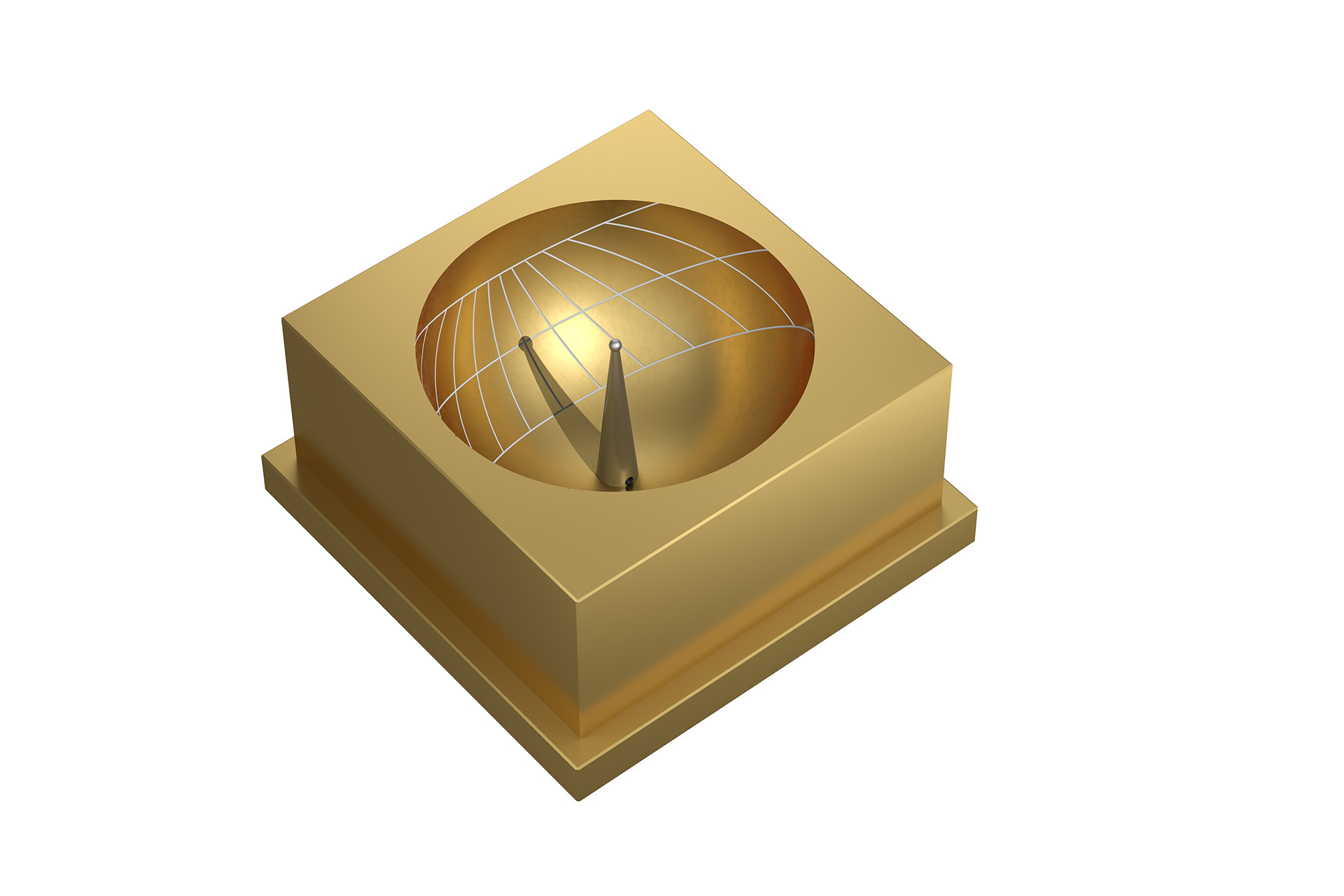 Sundial Skaphe fully gold anodisedshop displays temporal hours