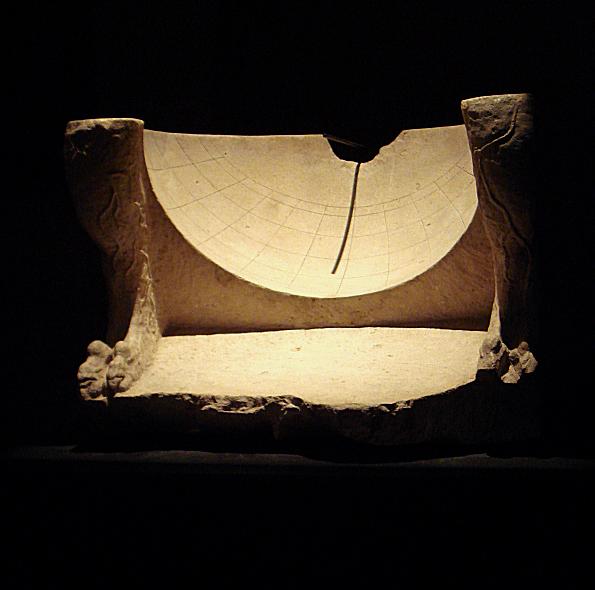 Sonnenuhr Skaphe antik